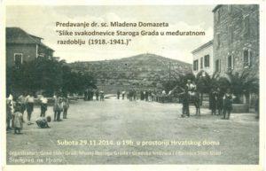 Mladen Domazet: Slike svakodnevnice Staroga Grada u međuratnom razdoblju (1918. – 1941.)