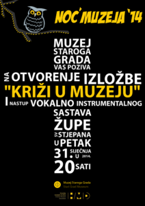 Night of museums 2014 in Stari Grad Museum