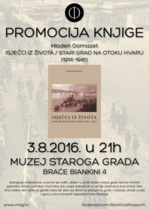 "Presentation of book by Mladen Domazet ""Excerpts from life – Stari Grad on island Hvar (1914-1941)"""