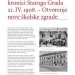 110 godina školske zgrade u Starome Gradu