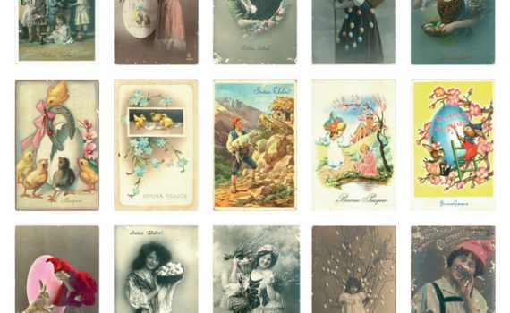 Sretan Uskrs! / Uskrsne kartoline iz prve polovice 20. st.