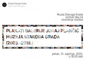 Plakati galerije Juraj Plančić Muzeja Staroga Grada (2003.-2019.)