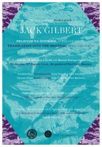 Jack Gilbert: Translation Into the Original, selected poems